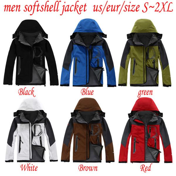 TOP north Men Softshell Jacket face coat Men Outdoors Sports Coats women Ski Hiking Windproof Winter Outwear Soft Shell men hiking jacket
