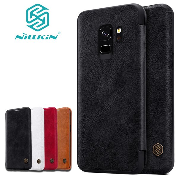 Nilkin para Samsung Galaxy S10 S9 S8 S8 Plus Nillkin PU Flip Leather Phone Back Cover para Samsung Note 9 8 S10 Lite Casos