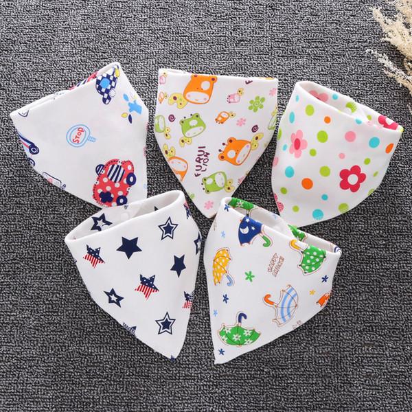 Baby Lätzchen Wasserdichte Dreieck Baumwolle Cartoon Kind Baberos Bandana Lätzchen Babador Dribble Lätzchen Newborn Slabber Absorbent Cloth