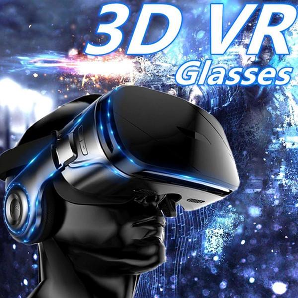 Gafas VR Realidad virtual 3D Panorámica 360g Cine estéreo Viendo películas, Juegos. Con auriculares manuales