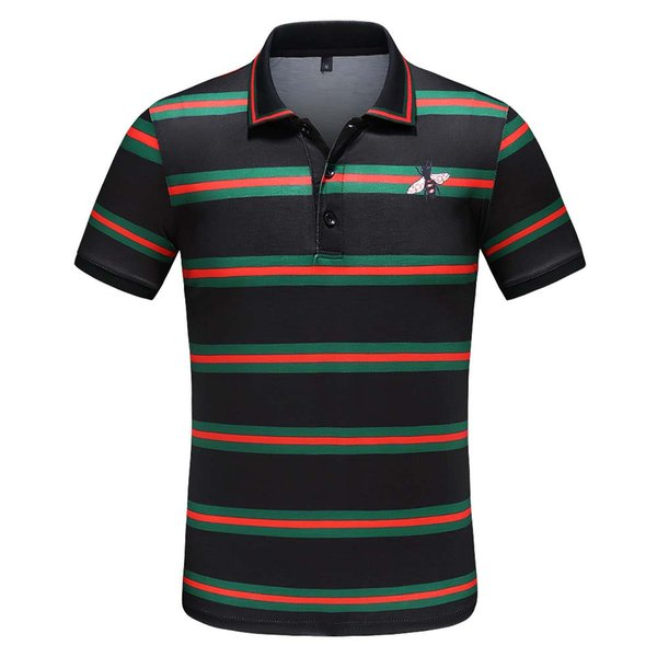 Brand New High street Luxury designers mens polos Fashion casual men polo embroidery bee snake polo t shirts
