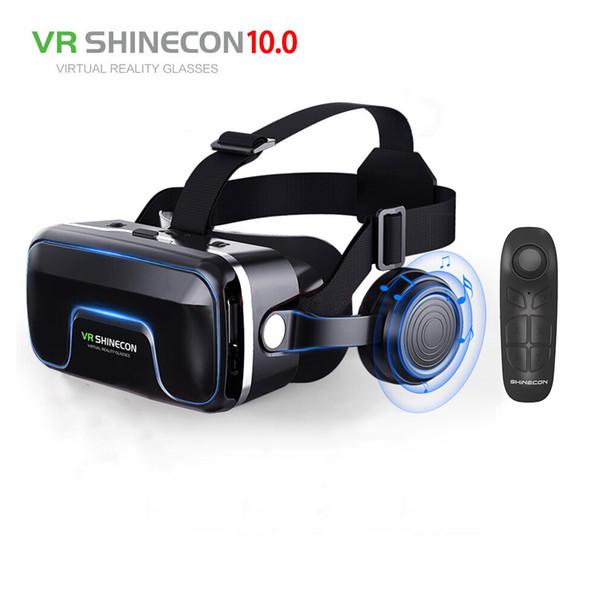 ¡Caliente! 2019 Google Cardboard VR shinecon Pro versión VR Realidad virtual Gafas 3D + Bluetooth inteligente Control remoto inalámbrico Gamepad