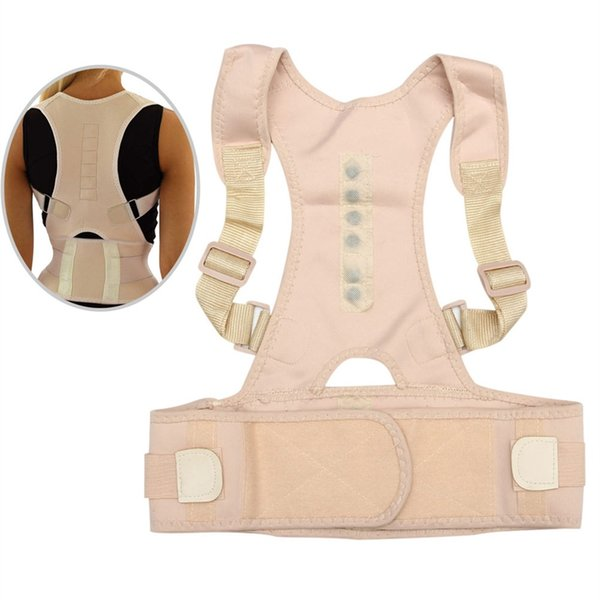 Sitting Posture Corrector Adjustable Magnetic Shape Body Shoulder Brace Belt Men And Women Back Vertebra Correct Therapy YS-BUY #19216