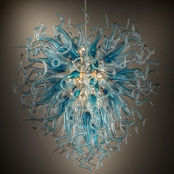best selling Hand Blown Glass Chandelier Lighting Italian Flower Lights Modern LED Glass Pendant Lights LED Chain Pendant Lamps for House Decoration