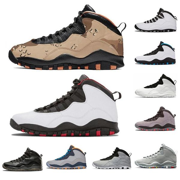 2019 Mens 10 Desert Camo Safety Shoes Man Desert Camo 10s X Basketball Shoes Rattan Black Dusted Clay Shoes US Size 7 13 UK 2019 From Man_shoes, UK