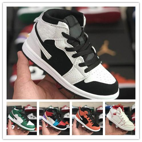 box Hot Sale R1 High OG Turbo Green Grey Sail 1s kids Basketball Shoes J1 High Quality Sneakers School Casual Sports Shoes Fast Shipping.
