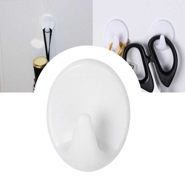 5pcs/lot Self Adhesive Clothes Hook Wall Door Holder Bathroom Towel Hanger Home Kitchen Bath Wall Organizer Hanger Clasps Hooks
