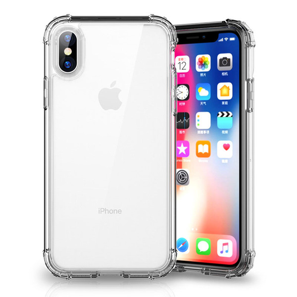 1.5MM armor clear shockproof phone case for iPhone XR XS Max Bumper Transparent soft TPU Cover for iPhone 7 8 X Plus