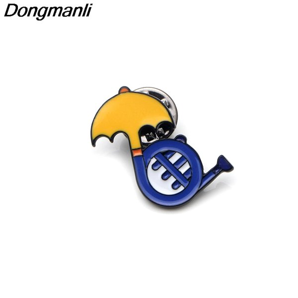 P3558 Dongmanli How I Met Your Mother TV Show Metal Enamel Pins and Brooches for Fashion Lapel Pin Backpack Bags Badge Gifts