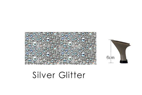 Silver Glitter 6cm