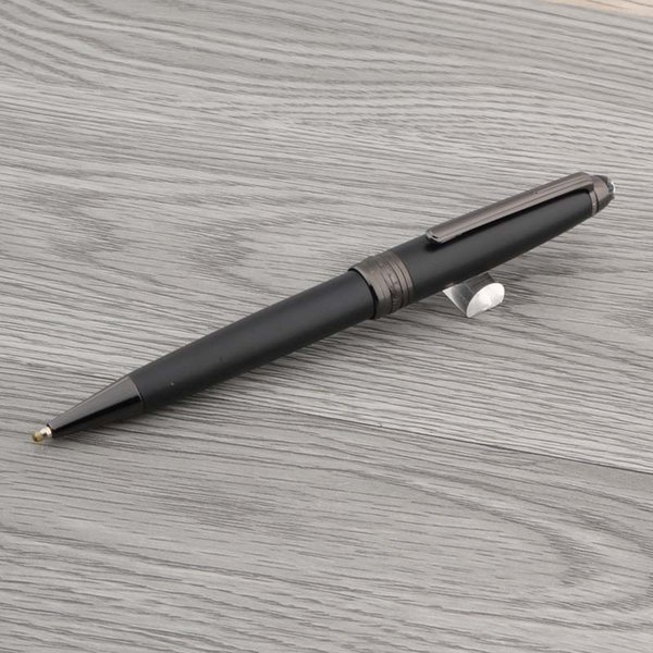 ESCRITÓRIO Black Gun cinza Escrita Suprimentos Metal número de série de luxo 163 PRESENTE esferográfica