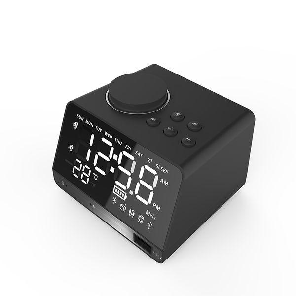 Bluetooth Digital Alarm Clock FM Radio despertador Digital LED Alarm Clock Multi-function Smart Mirror speaker double Wireless