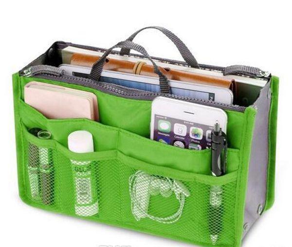 Free Shipping HOT Women Cosmetic Bag Organizer Bag In Bags Double Zipper Portable Multifunctional Travel Pockets Makeup Bag