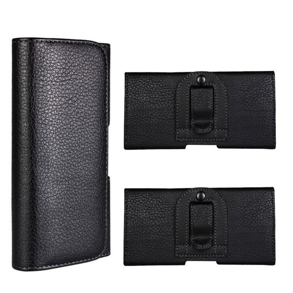 Waist Hang Phone Bag PU Leather Pouch Holster Belt Clip Cover For iphone X 8 7 6 6S Plus 5S 4.7inch to 5.5inch Samsung Huawai Any Phones 55