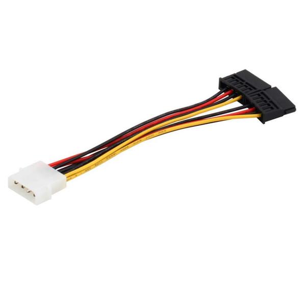 Cavo adattatore IDE seriale ATA SATA a 4 pin Molex a 2 di 15 pin HDD Cavo di alimentazione in tutto il mondo