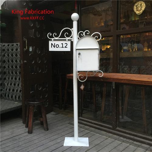 Caixa de correio pastoral villa europeu caixa de correio de metal retro jornal ao ar livre