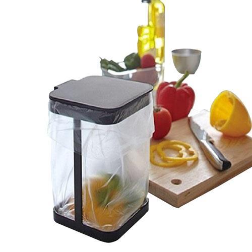 Tutucu Çöp Geri Çöp Kapağı Kare Çanta Dolap Mutfak Gri Depolama Raf Kapı Asılı Çöp Standı