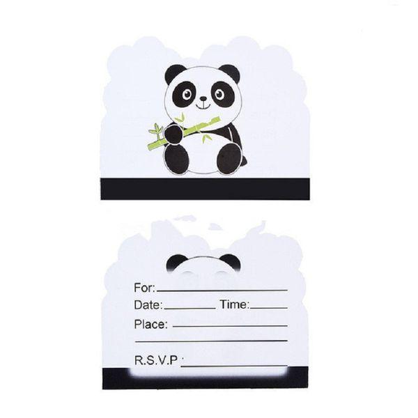 Compre Tarjeta De Invitación Panda Tema Evento Fiesta De Cumpleaños Productos Para Niños Decoraciones Artículos De Fiesta Cumpleaños Boda A 33 85 Del
