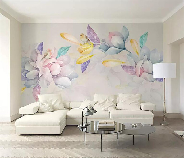 3D Magnolia Flower Printed Mural Photo Wallpaper Large Size Wall Paper for Living Room Wall Decor Modern Painting Wallpapers