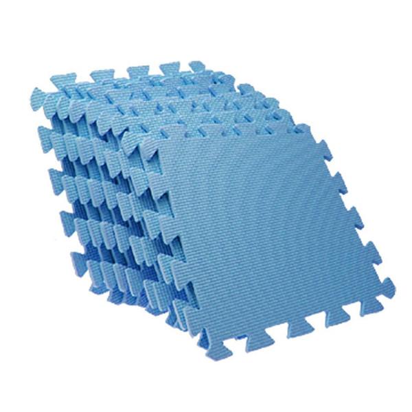 Tapis de sol emboîtables bleus en mousse EVA Puzzle en mousse antifatigue