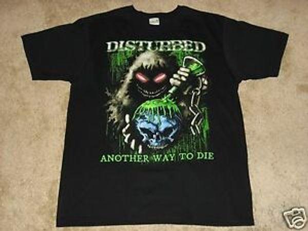 Disturbed Toxic Globe S M L BlaHip hop T Shirt