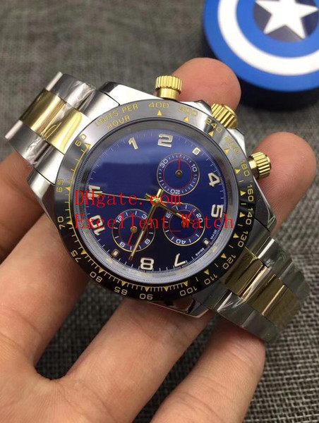 9 Style Fashion watches 40 mm 116503 116523 116509 116508 18k Yellow Gold Ceramic Bezel Asia 2813 Automatic Mechanical Men's Wristwatches