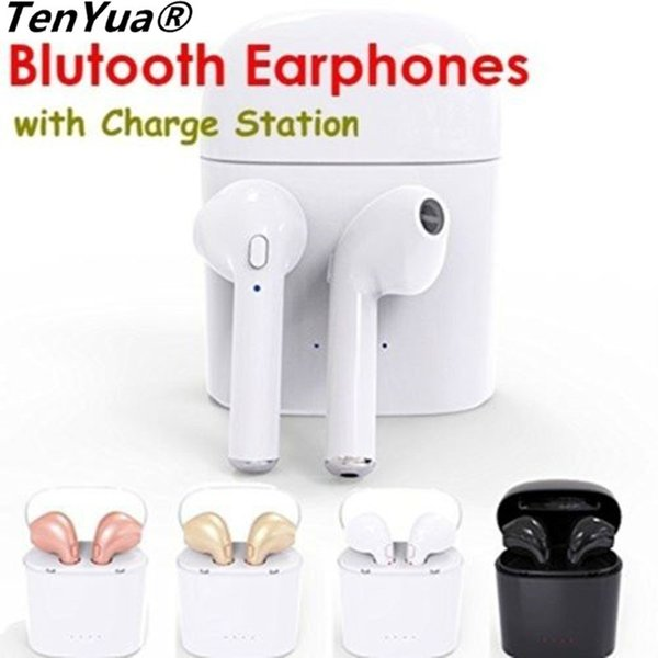 TenYua i7s TWS Mini Drahtlose Bluetooth Kopfhörer Stereo Ohrhörer Headset mit Mikrofon Für Iphone Xiaomi huawei Mit Ladekiste