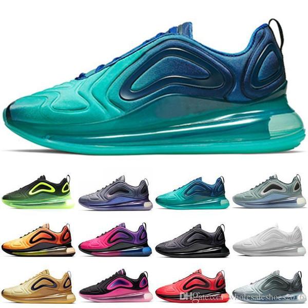 Koşu Ayakkabıları Erkekler Kadınlar Beyaz Siyah Kırmızı Deniz Orman Kuzey Işıkları Sunrise Sunset Tasarımcı Spor Eğitmenler Sneakers Ucuz Boyutu 36-45