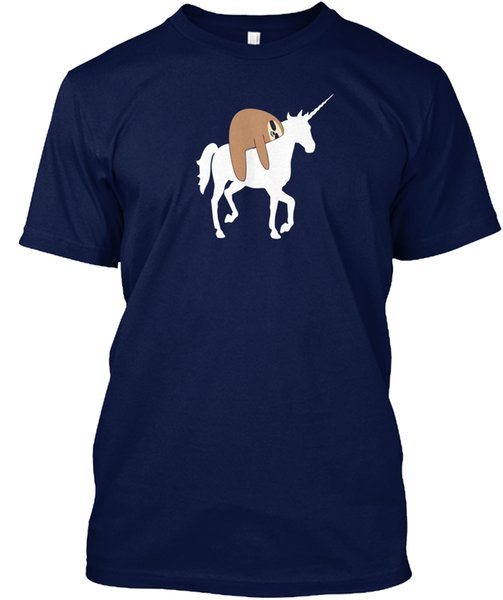 mens designer t shirts shirt Sloth Unicorn , Funny Cute Animal L Popular Tagless Tee T-Shirt