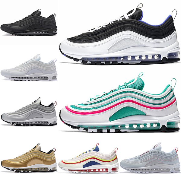 With Box 2019 Undefeated 97 OG Plus Men Running Shoes Run Gold Silver 97s Sports Mens Womens Trainers Athletic Designer Sneakers
