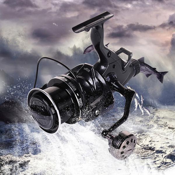 Рыболовные катушки для карпа 8000 9000 10000 Приманка для бега Big Free Runner Двойной тормозной механизм 12 + 1 Шарикоподшипник спиннинговая рыболовная катушка