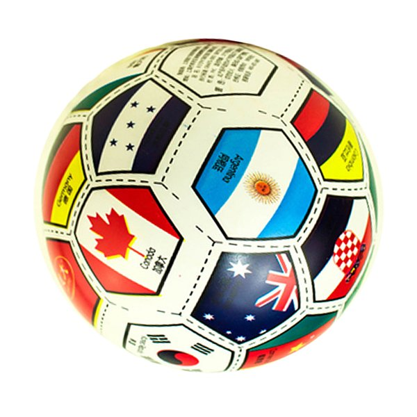 "top popular 9"" Inflatable National Flags Toy Swimming Pool Toy Ball 2021"