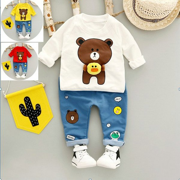 Spring Fashion Boy T Shirt + Pant Set Cartoon Children Suit Casual Kids Clothes Sport Toddler Baby Tracksuit Boys Clothing