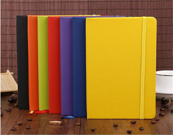 top popular Hardcover Notebook Journal Paperback Premium Thick Paper Classic Notebook PU Leather Large Composition Book Lined 14.2*21.22cm 100sheets 2020