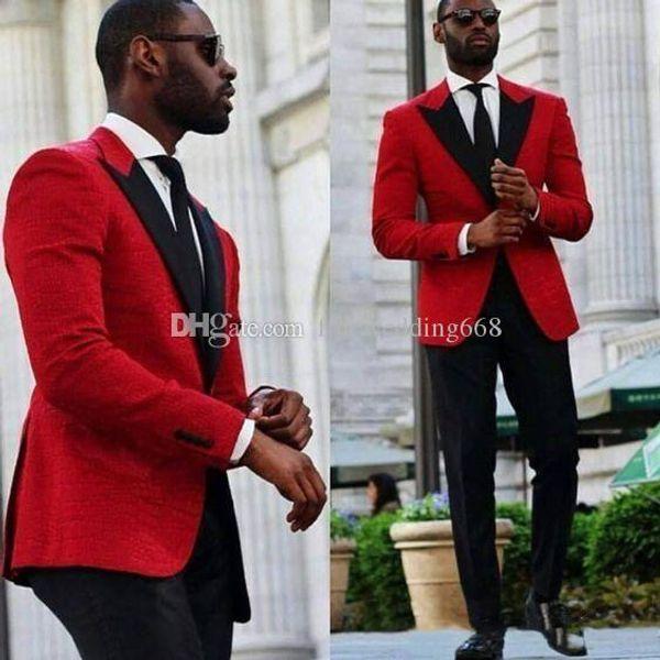 2018 Classic Handsom Peak Lapel One Button Wedding Groom Tuxedos Men Suits Wedding/Prom/Dinner Best Man Blazer(Jacket+Tie+Girdle+Pants) A