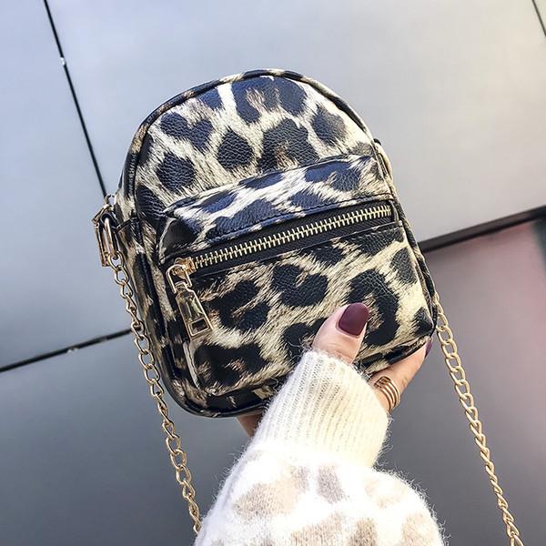 2019 Crossbody Bag Leopard Small Flap Fashion Trendy Chains Bag Female Brands Handbags Women Bag Sac A Main
