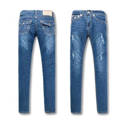 True Jeans Robin Moda Donna Casual Jeans Denim Straight Elasticity Pantaloni economici Alta qualità Designer Classic Strappato Religioso Jean