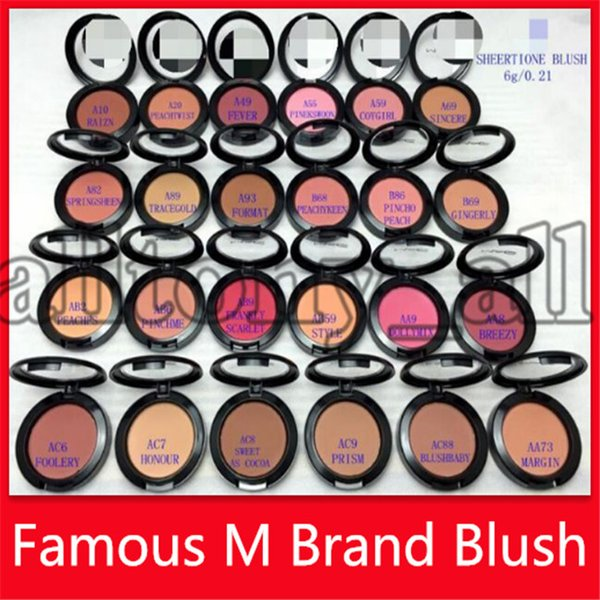 m blush cosmetics makeup face blush 6g pressed power highlighter brands blusher make up tools single color 24 colors