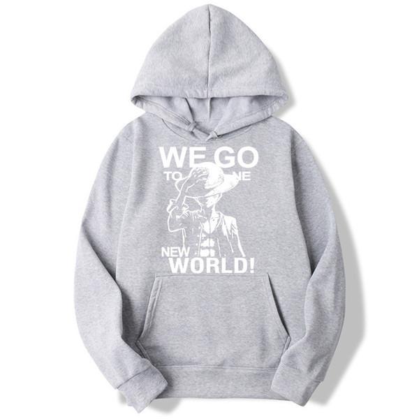 2019 Asian Size Luffy Hoodies Sweatshirts Japanese Anime One Piece Streetwear Popular Men And Women Mwt083