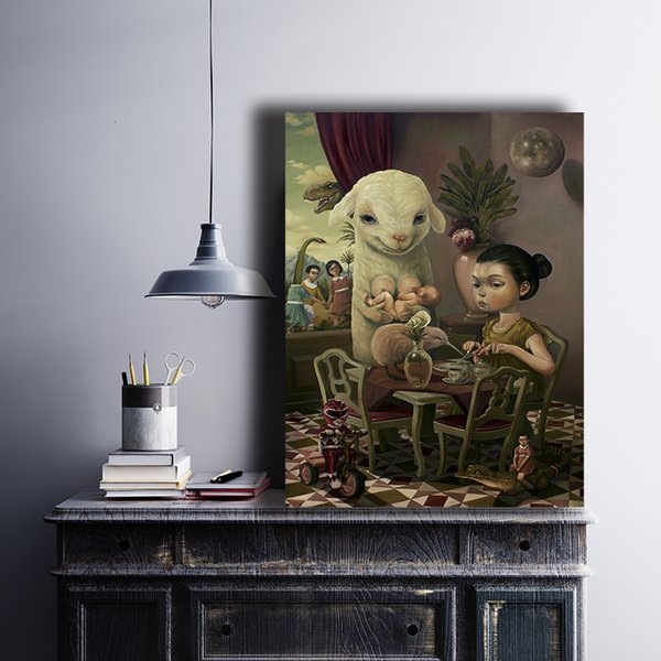 Tea time Roby Dwi Antono Canvas Painting Wall Picture Poster And Print Decorative Home Decor