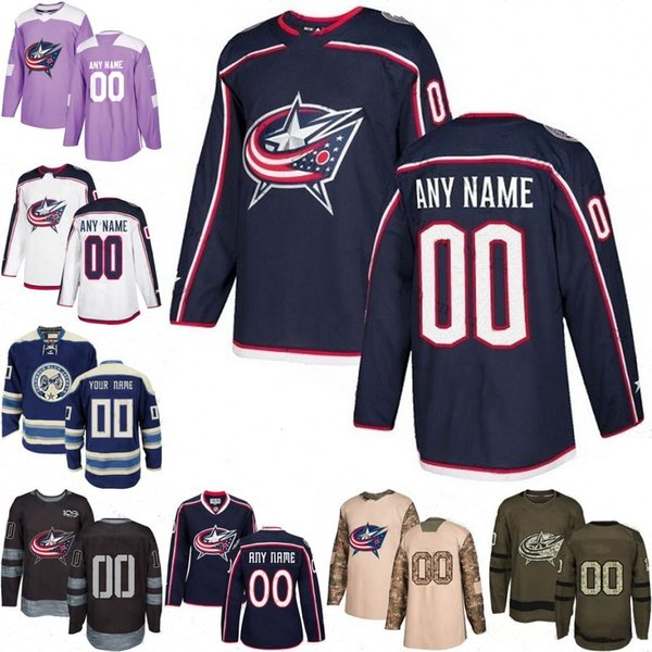 quality design 3caf8 000c2 2019 2019 Customized Men'S Columbus Blue Jackets Custom Any Name Any Number  Ice Hockey Jersey,Authentic Jersey Embroidery Logos Size S 3XL From ...
