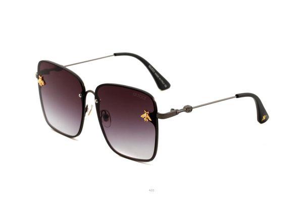Luxury 1056 Sunglasses For Unisex Fashion Square Simple designer UV 400 Lens Coating Mirror Lens Color Plated Frame