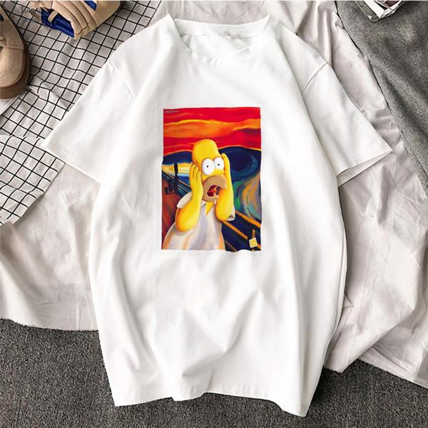 Femme Funny Tshirt Funny Simpson Cotton O Neck T Shirt Plus Size Short Sleeve Brand Female T Shirt Women