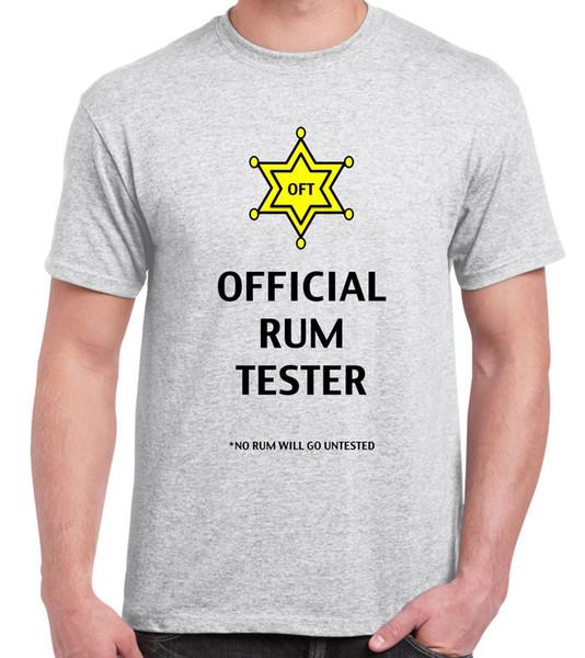 Official Rum Tester Men's T-Shirt - Funny Drinker Jamaica cattt windbreaker Pug tshirt top free shipping t-shirt
