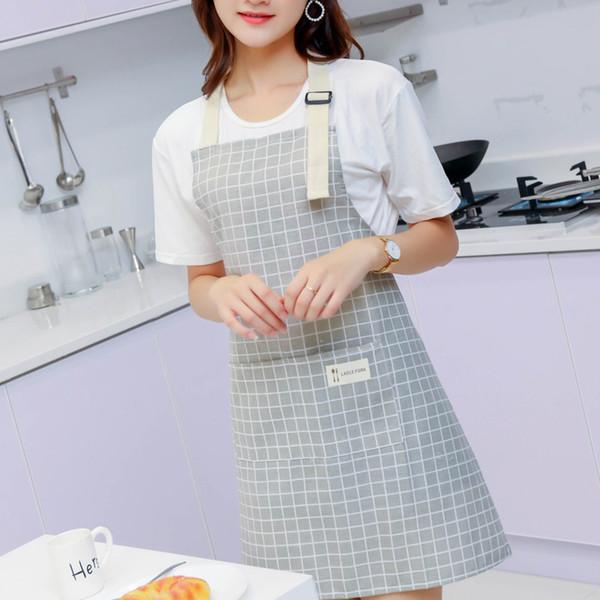 Kitchen Aprons for Women Lady Men Adjustable Cotton Linen Kitchen Apron Cooking Baking Restaurant Pinafore delantal cocina