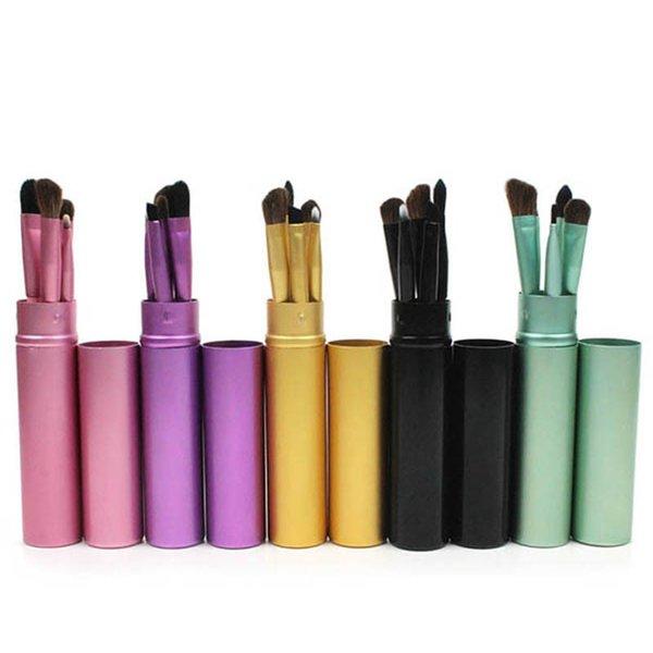 5pcs ensemble pinceaux de maquillage pour les yeux cheval cheveux ombre à paupières eyeliner pinceau à sourcils ensemble professionnel yeux maquillage beauté outil