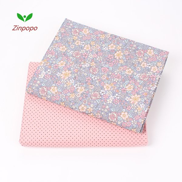 Nuevo 2 unids / pack 40 * 50 cm Tela de algodón para coser mantel cortinas tissu tecido muñeca DIY Tela Patchwork acolchar telas K85