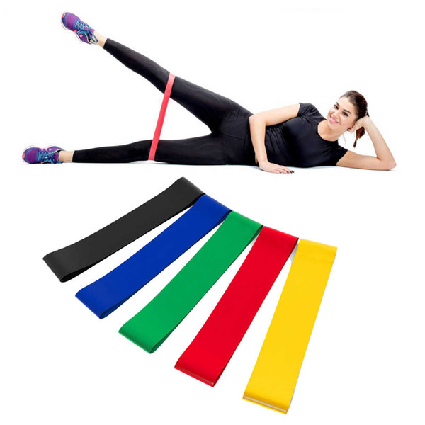 best selling 5PCS Set Resistance Band fitness 5 Levels Latex Gym Strength Training Rubber Loops Bands Fitness Equipment Sports yoga belt Toys