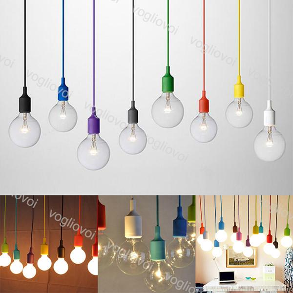 Pendant Lights E27 Holder Modern Colorful Dining Room Pendant Lamps Silica Gel Material Decoration Light DHL