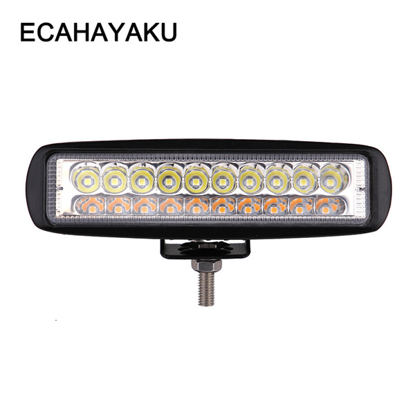 ECAHAYAKU 6 inch 60W amber strobe flash color change 3 modes spot beam off-road car LED work light Bar for JEEP truck SUV